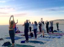 yoga surf beach